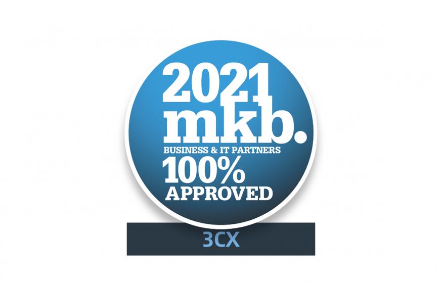 MKB Proof Awards 2021, MKB, 3CX, communicatie, chatsoftware, software