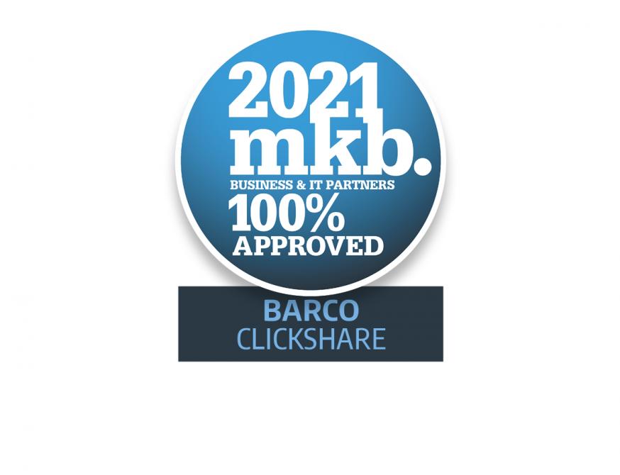 MKB Proof Awards 2021, Barco ClickShare, hybride werken, meeting, technologie